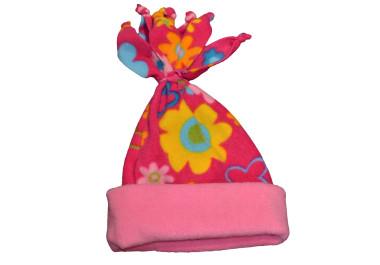 Pink virágos sapka