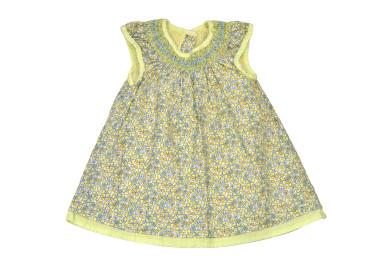 Zöld - sárga virágos ruha